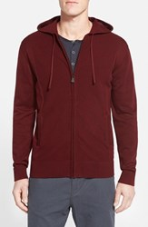 Men's Rodd And Gunn 'Ashurst' Full Zip Knit Hoodie Burgundy