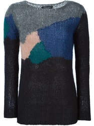 Roberto Collina Colour Block Sweater Black