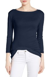 Caslonr Women's Caslon Three Quarter Sleeve Tee Navy Peacoat