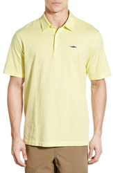 Men's Patagonia 'Trout Fitz Roy' Organic Cotton Polo Lite Blazing Yellow