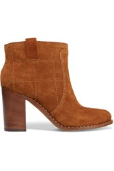 Marc By Marc Jacobs Stitched Suede Boots Brown