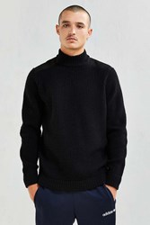 Stussy Mock Neck Military Sweater Black