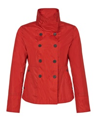 Aquascutum London Double Breasted Lightweight Jacket Red