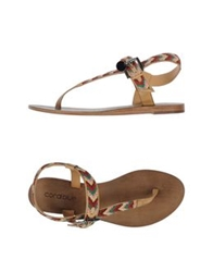 Coral Blue Thong Sandals Green