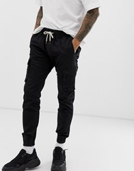 Your Turn Yourturn Cargo Trousers In Black