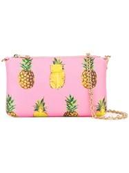 Dolce And Gabbana Mini Pineapple Print Shoulder Bag Pink