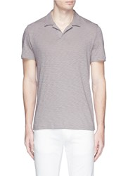 Theory 'Willem' Open Collar Jersey Polo Shirt Grey