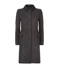 Claudie Pierlot Garbo Leather Collar Coat Female Dark Grey