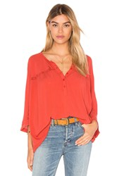 Amuse Society Olivia Woven Top Red