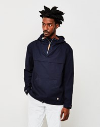 Armor Lux Hooded Fisherman's Smock Jacket Navy