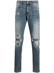 Represent Slim Fit Distressed Effect Jeans Blue