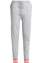 Chinti And Parker Intarsia Wool Cashmere Blend Track Pants Gray