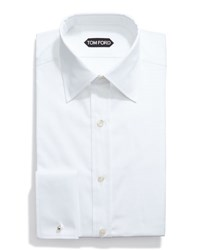 Tom Ford Basic French Cuff Dress Shirt White