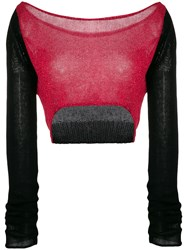 Lost And Found Rooms Cropped Jumper Black