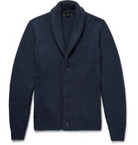 Loro Piana Shawl Collar Cashmere Cardigan Navy