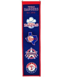 Winning Streak Texas Rangers Heritage Banner Blue Red