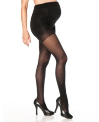 Motherhood Maternity Opaque Light Compression Maternity Tights Black