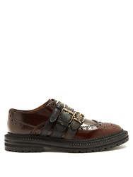 Burberry Doherty Multi Strap Leather Brogues Tan