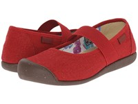 Keen Sienna Mj Canvas Red Dahlia Women's Flat Shoes