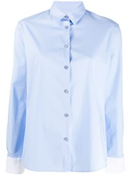 Paul Smith Ps Cocktail Cuff Print Shirt Blue