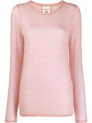 Semicouture Fine Knit Sweater Pink