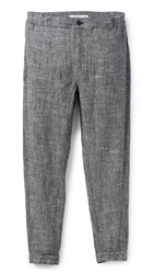 Shades Of Grey Woven Joggers Black Linen Chambray