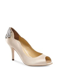 Jl By Judith Leiber Isabelle Peep Toe Pumps Taupe