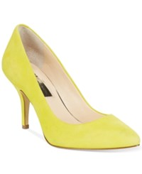 Inc International Concepts Womens Zitah Pointed Toe Pumps Only At Macy's Women's Shoes Chartreuse
