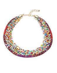 Design Lab Lord And Taylor Beaded Collar Necklace Multicolor