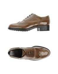 Alberto Moretti Lace Up Shoes Khaki