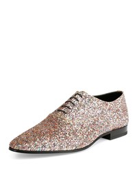 Saint Laurent Jewel Sequined Lace Up Shoe Multicolors Men's Size 41Eu 8Us Multi Colors