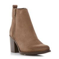 Steve Madden Porta Side Zip Ankle Boots Taupe