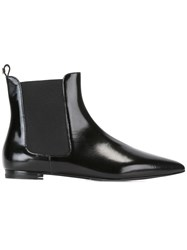 Twin Set Pointed Chelsea Boots Black