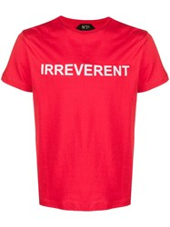 N 21 No21 Irreverent T Shirt Red