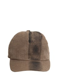 Isabel Benenato Hand Painted Cotton Canvas Hat