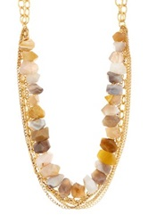 Janna Conner Fei Botswana Agate Necklace No Color