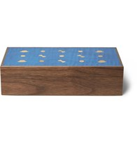 Linley Wooden Cufflink Box Brown