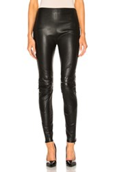 Saint Laurent Motorcycle Legging In Black
