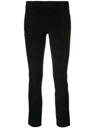 Vince Cropped Skinny Trousers Black