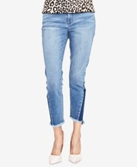 Rachel Roy Cropped Skinny Jeans Created For Macy's Blue Wash