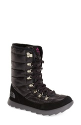 The North Face 'Thermoballtm' Water Resistant Boot Women Shiny Black Pink