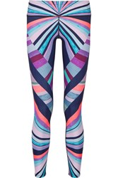 Mara Hoffman Printed Stretch Jersey Leggings Pink