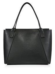 Vince City Medium Leather Tote New Stone