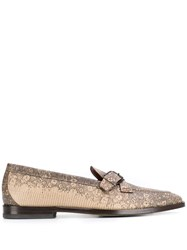 Etro Textured Loafers Neutrals