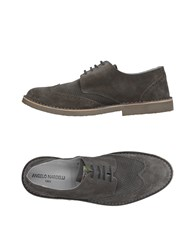 Angelo Nardelli Lace Up Shoes Grey