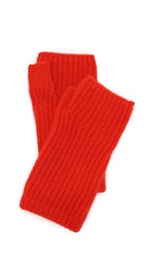 Rag And Bone Alexis Fingerless Cashmere Gloves Fiery Red