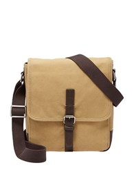 Fossil Davis Canvas Crossbody Bag Khaki