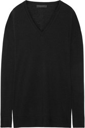 The Row Amherst Oversized Cashmere And Silk Blend Sweater Black