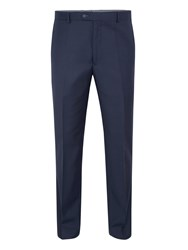Paul Costelloe Modern Fit Navy Sharkskin Suit Trousers