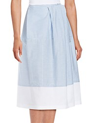 Jil Sander Cotton Blend A Line Skirt Sky